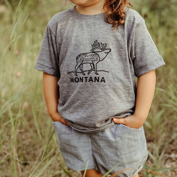 Elk Toddler & Kid Tee - Grey