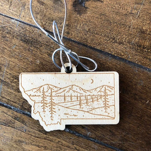 Starry Road Wooden Ornament
