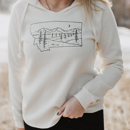 Home is Where the Mountains Are Flow Tee - White