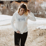 Starry Road Ladies Hoodie - Cream