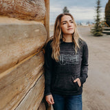 Starry Road Ladies Hoodie - Grey/Black