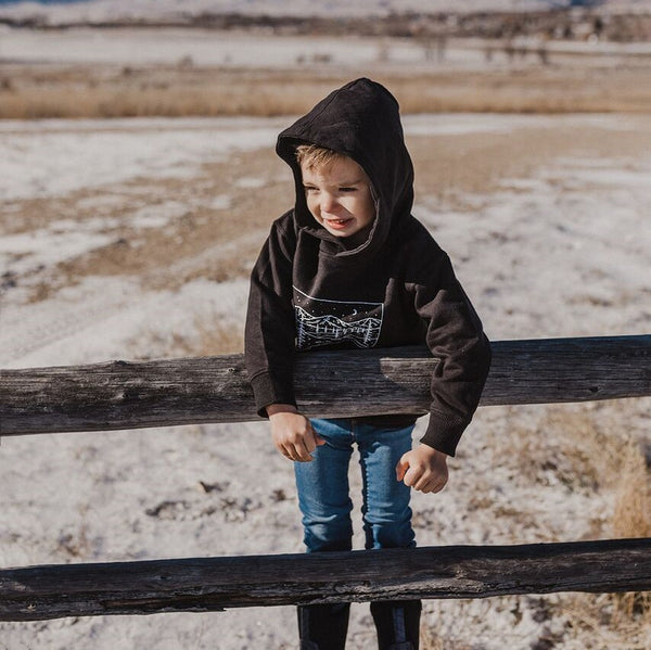 Starry Road Toddler Hoodie - Black