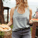 Starry Road Scoop Tank - Blue