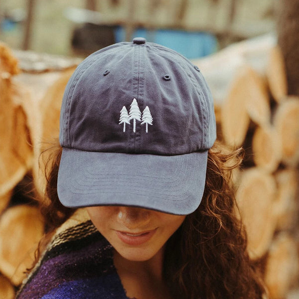 Three Tree Dad Hat - Navy