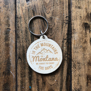 In the Mountains of Montana Key Chain