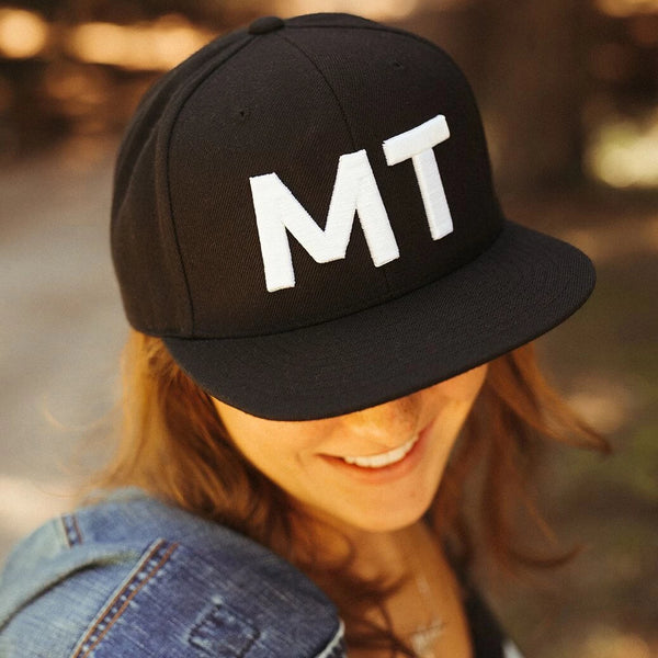 Big MT Wool Snapback Trucker - Black