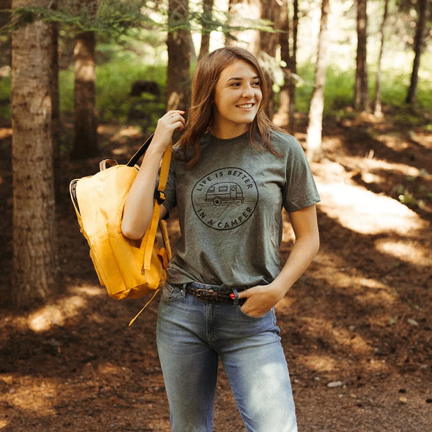 Life is Better in a Camper Unisex Tee - Grey 1