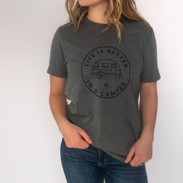 Life is Better in a Camper Unisex Tee - Grey