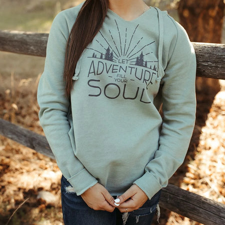 Montana Trees Ladies Fleece Wide Neck - Grey