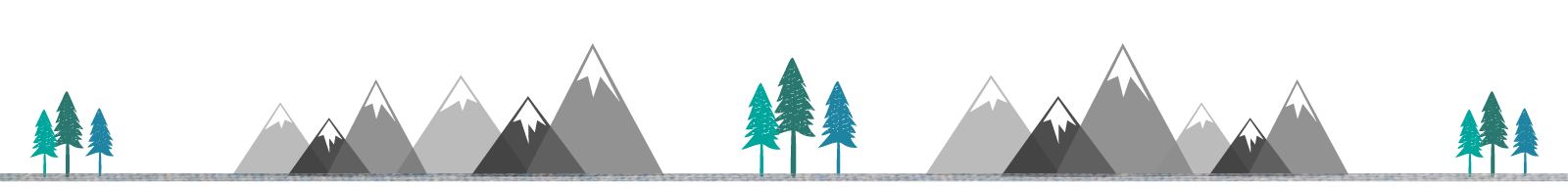 footer trees and mountains