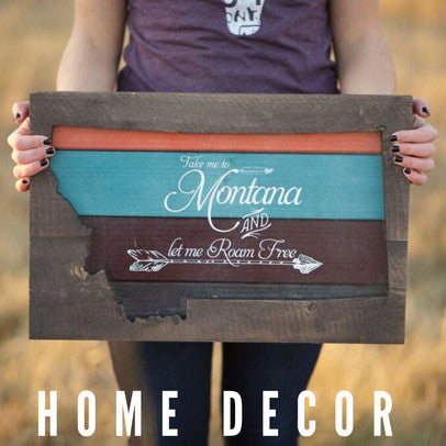 montana scene home decor