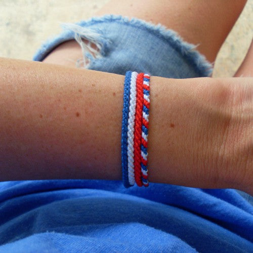 4th of July thin bracelets