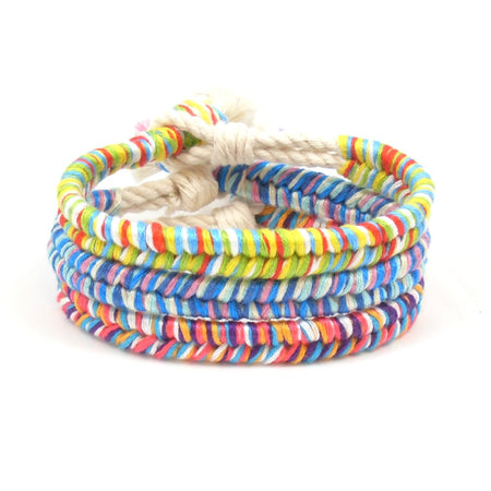 Holly Jolly Boho Beach Bracelet Stack