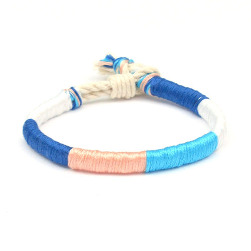 bright colored beach bracelet