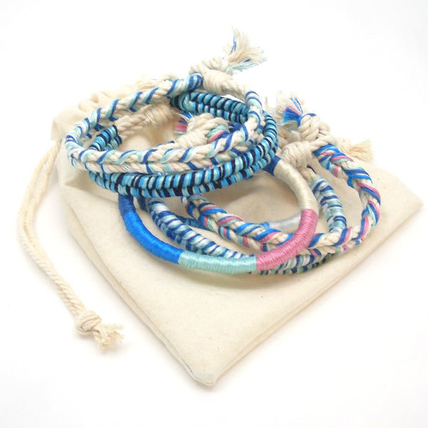 boho beach bracelets set of 5