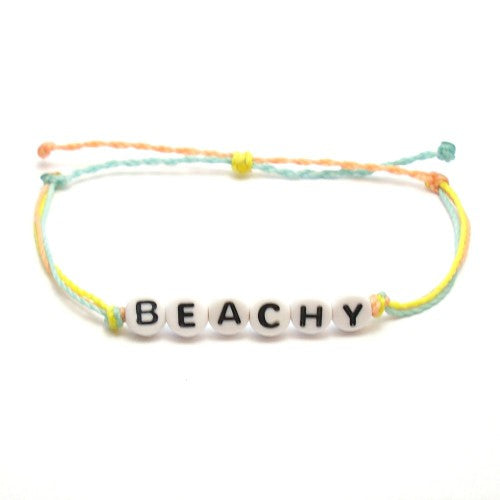 Beachy Word Bracelet