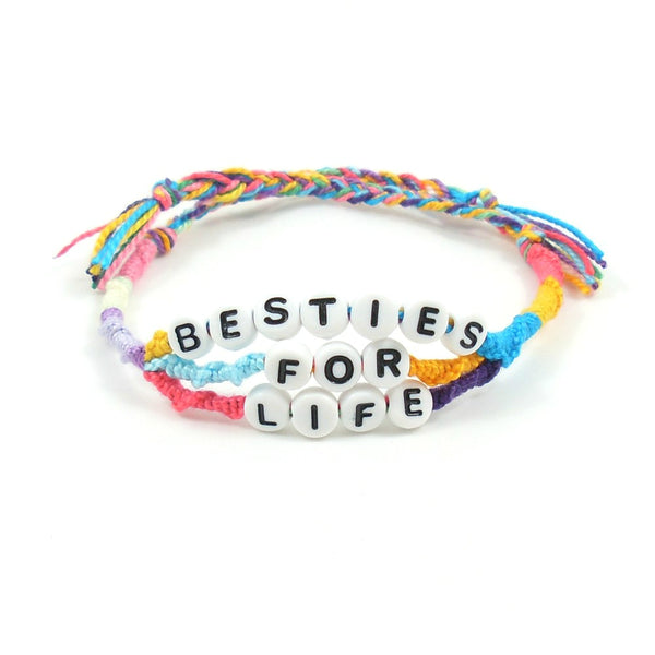 Besties for Life Word Friendship Bracelet