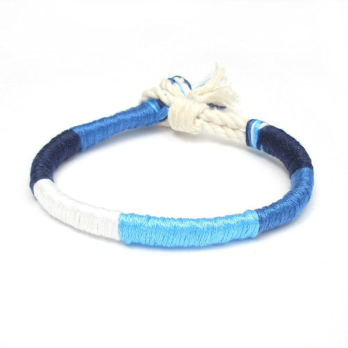 Blue Crush Twisted Beach Bracelet