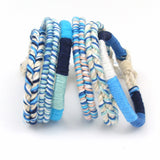 Blue Crush Braided Beach Bracelet