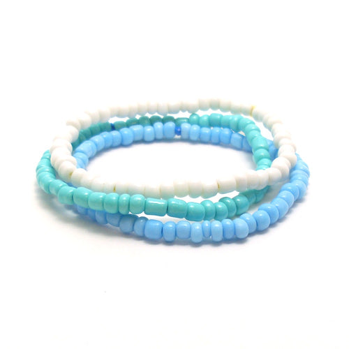 ocean blues bracelet stack
