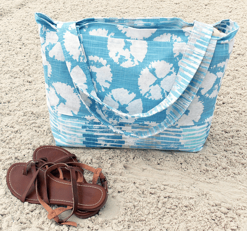 Extra Large Blue Beach Bag