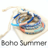 set of 7 summer boho bracelets