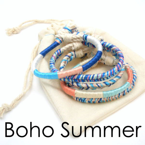 summer boho bracelets set of 5