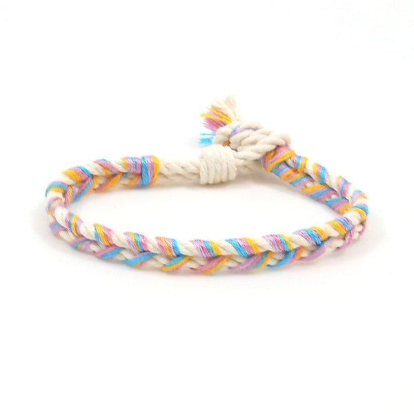 candy braided bracelet
