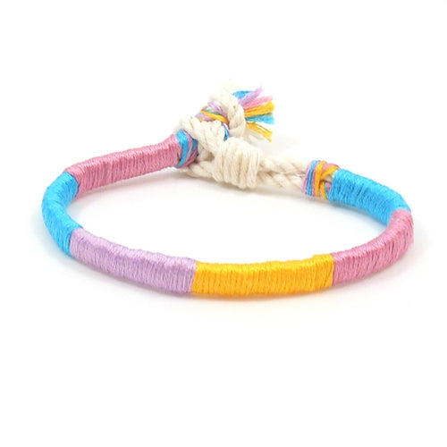 bright colored hippie bracelet