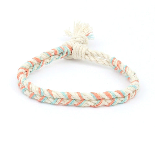 coral and mint bracelet
