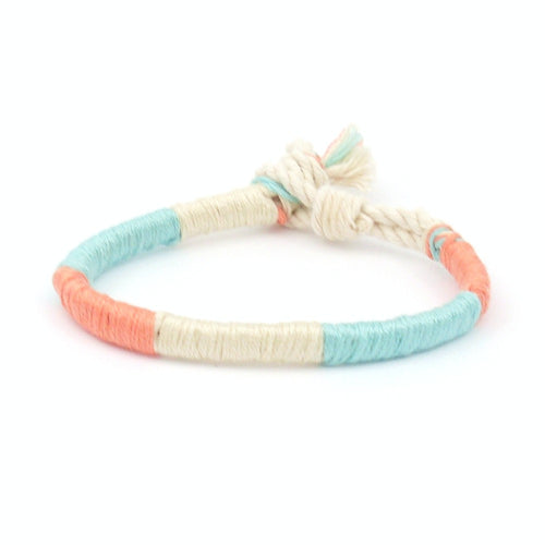 coral and seafoam beach bracelet