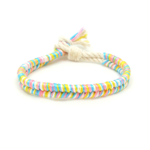 cotton candy boho beach bracelet