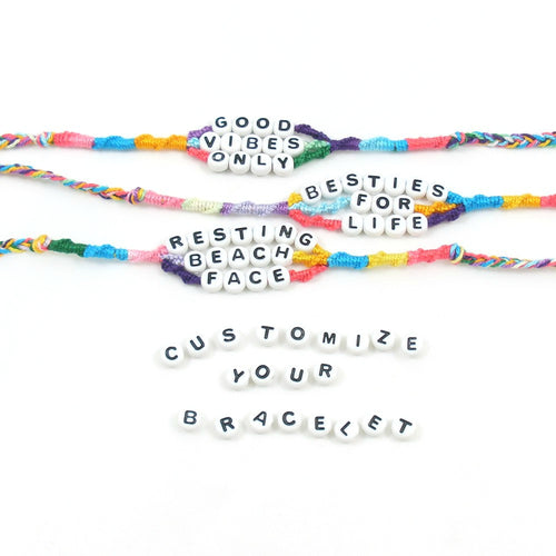 personalized word bracelets