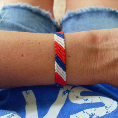red white and blue friendship bracelet
