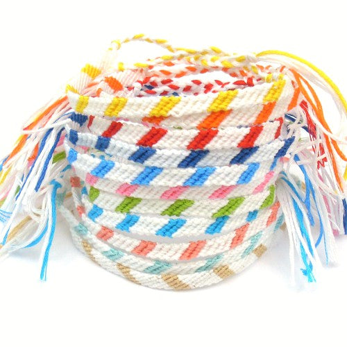 Two Color Braided Friendship Bracelets