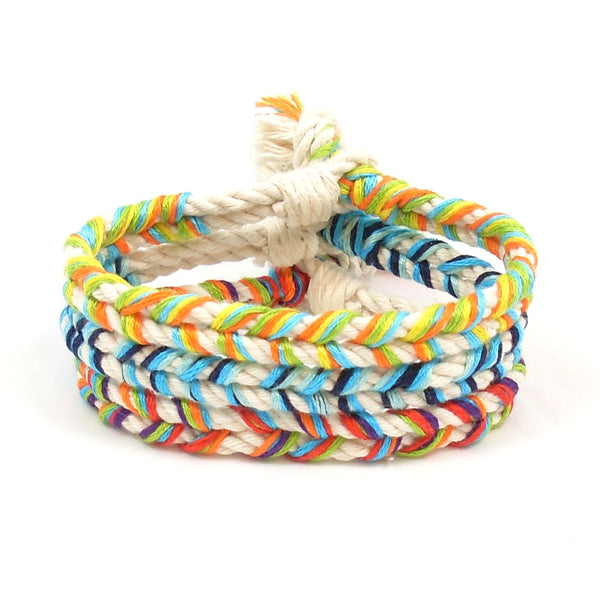 good vibes beach bracelet stack