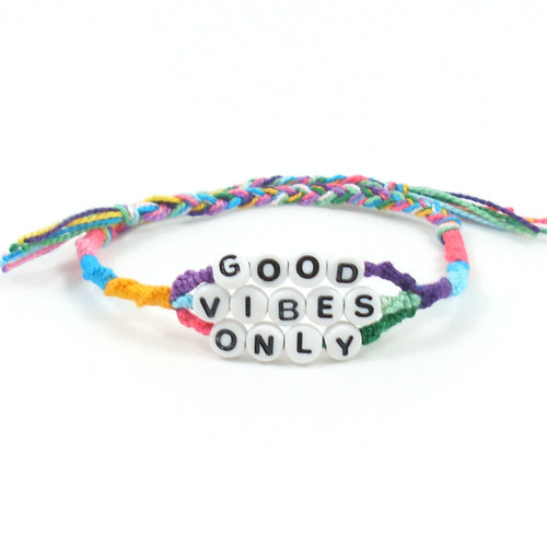 good vibes only word bracelet for summer
