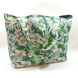 green tropical beach bag
