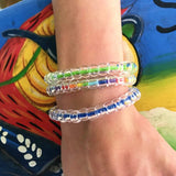 rainbow clear color bracelet