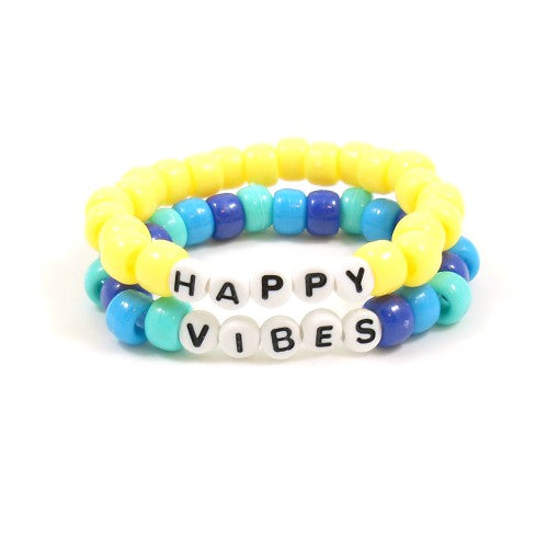 happy vibes summer bracelets