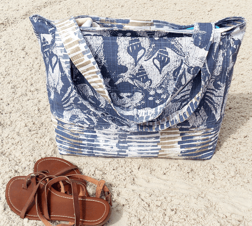 extra large beach bag with lobsters