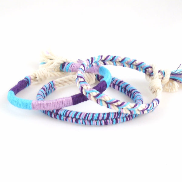 set of three mermaid wishes bracelets