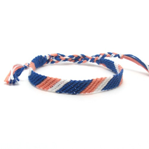 navy and coral friendship bracelet