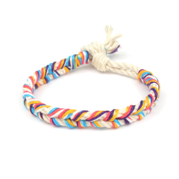 braided miami beach bracelet and anklet