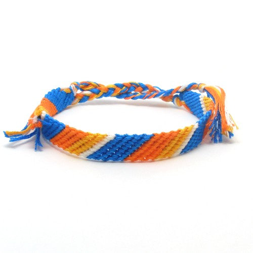 orange and blue summer bracelet