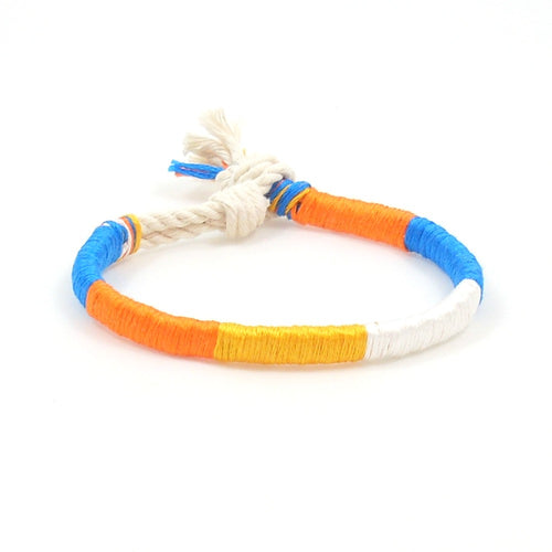 orange crush summer bracelet twisted style