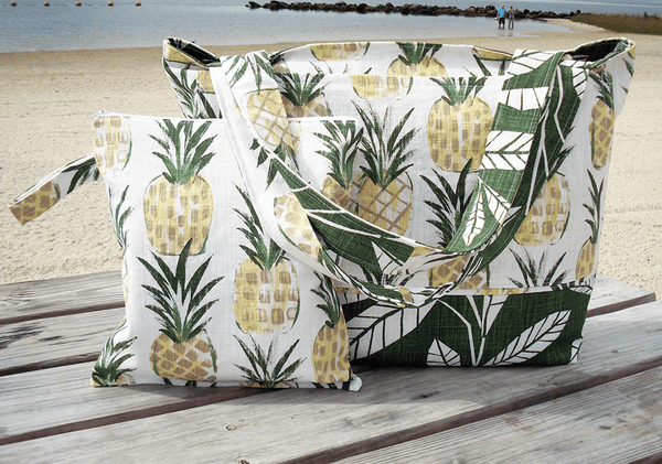 Pineapple Beach bag and matching wet bag