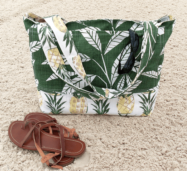 Pineapple Beach Bag and Bathing Suit Wet Bag Combo