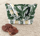 Pineapple themed beach bag