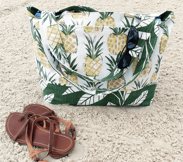 Beach Bag with Pineapples